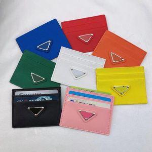 Top quality Genuine P Leather Holder Luxurys Designers Fashion handbag Men Women's COIN CARD Holders Black Mini Wallets Key Purse Pocket Interior Slot