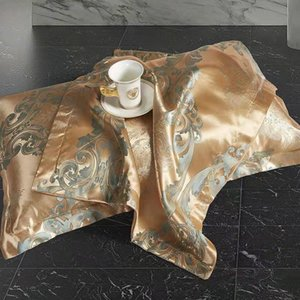 Pillow Case 2 PCS European Style High-grade Satin Jacquard Adult Fashion Luxury Bedding