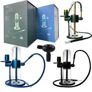 Gravity Hookah Powered Contactless Water Pipe Kits E cigarette Smoking Accessories Glass Bong Stunden Recycler For Tobacco Dry Herb Oil Vape Pen
