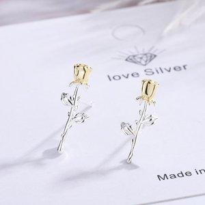 Stud DIWENFU Aretes De Mujer 925 Silver Sterling Earring For Women Orecchini Bizuteria Jewelry Garnet Girls