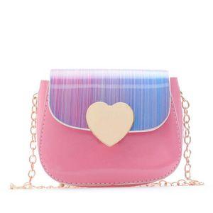 Backpacks Children Bags Rainbow Mini Kids Love Chain Shoulder Messenger Leather Purses Girls B4350