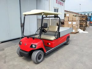 Electric golf truck with bucket, two seats