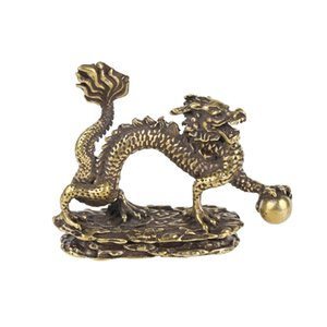 Details about Solid Brass Dragons Figurine Small Dragon Statue House Ornament Animal Figurines toys Factory Direct Sales AC20