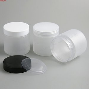 6.66 oz Frost Large Refillable PET Plastic jar with plastic cap 200ml 200cc Empty Cosmetic Containers pot Shampoo Jars 20pcshigh qualtity
