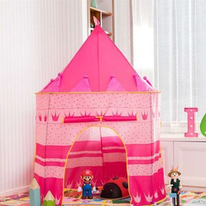 2021 Baby indoor castle dollhouse novelty Games children tent princess play house two colors for joy and happy childhood