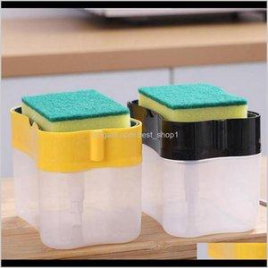Other Kitchen Dining Bar Detergent Storage Dispenser Box Sponge Soap Dish Accessories Liquid Pump Scouring Pad Cleaning Dishwa Lyzqe
