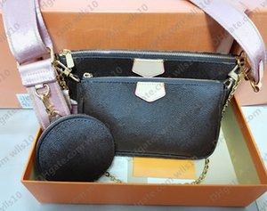 Fashion Handbags Women Bags Crossbody 3 Pcs set Shoulders strap Date code Purses Wallet clutch shoulder messenger woman cross body Multi Pochette purse Handbag LB72