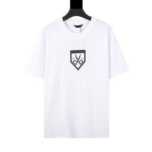 21ss европейская весна и летние новейшие моды окрашены на окрашенные масляные масляные печать тройник французский Париж мужской дизайнер высококачественный мужской китайский стиль повседневная футболка