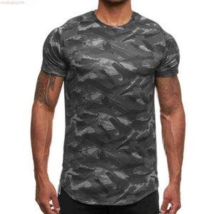 2021 Fashionnew Mens Tight-fitting Short-sleeved T-shirt Fitness Organization Gyms Splicing Cotton Size M-xxxl Bj9x BJ9X
