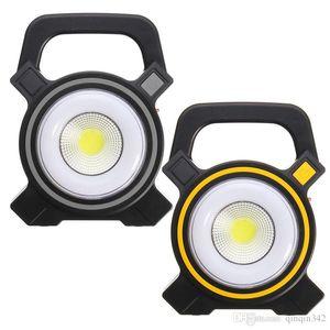 Güneş Lambaları Işıkları Powered USB Taşınabilir 30 W LED Işıklandırmalı Fenerler COB Şarj Edilebilir Sel Işık Açık İş Nokta Lambası 2400LM