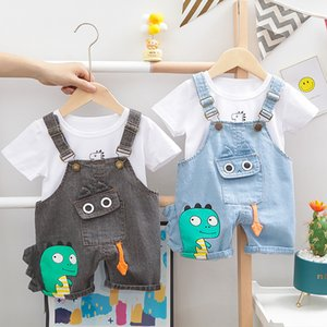 Lawadka Baby Boy Clothing Sets Infants Newborn Boy Clothes Shorts Sleeve Tops Overalls 2Pcs Outfits Summer Cartoon Clothing 2021 994 X2