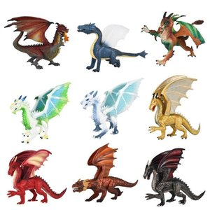 Simulation Solid Science Fiction Animal Figure Doll Kid Toys Flying Magic Dragon Dinosaur Adult Toys Ice Dragon Gift