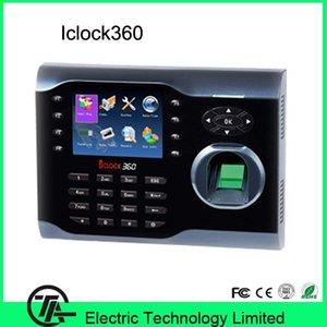 Pantalla táctil de 3.5 pulgadas iClock360 Tiempo de huella digital Reloj de tiempo 8000 Control de acceso de asistencia de capacidad