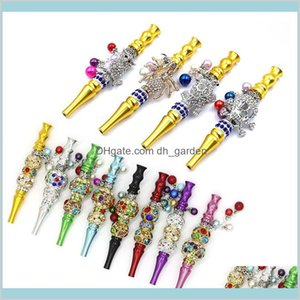Other Smoking Accessories Household Sundries Home Garden Bling Metal Mouth Tips Hookah Shisha Mouthpiece Blunt Joint Holder Drip Tip F