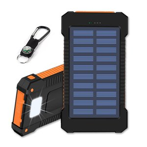 20000 mAh güneş enerjisi bankası vurgulamak LED 2A çıkış cep telefonu taşınabilir şarj ve açık şarj için kamp lambası