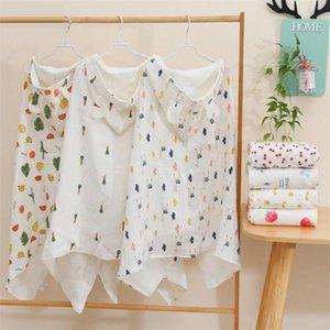 Towels & Robes 17 Style Muslin Cotton Baby Bath Towel Born Hoodie Blanket Children Bathroom Beach Shower Poncho Hooded