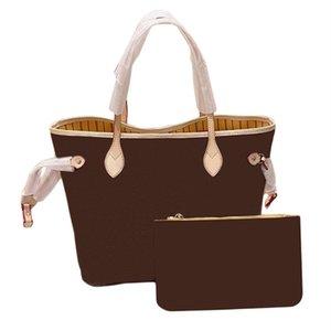 2021 Модная мода сумка бренда дизайн покупок сумка из двух частей для мужчин и женщин Универсальная коричневая кожаная практичная супер большая емкость
