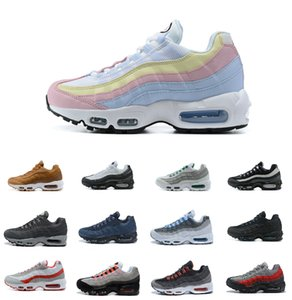 Großhandel ultra 95 og x 20. jubiläums männer laufen sportschuhe 95s trainer luft schwarze sohle grau blau hohe qualität chaussures tennis schuh