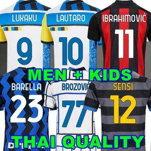 Maglia da calcio Inter 2020 2021 2022 casa fuori casa 3 ° quarto 4 ° LUKAKU LAUTARO ERIKSEN 20 21 22 AC MILAN IBRAHIMOVIC THEO maglia da calcio per bambini set uniforme