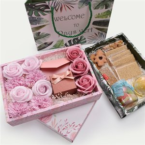 Paper Gift Box Candy Cookies Cake Box With Bag Wedding Favor Gift Bag Party Decor GWF7665