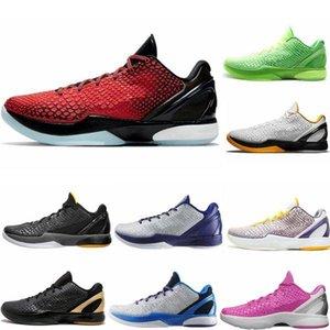 2021 переработанный протро 6 белый Del Sol Баскетбольная обувь зеленый яблочный черновик черный красный розовый фиолетовый переиздание мужская обувь 40-46