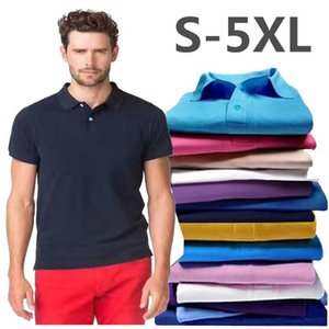 2021 Men's Summer Fashion Business Slim Fit Cotton Polo Shirt Women Men Soild Color Shirt Thin Casual Embroidery black Polo Shirt Tops