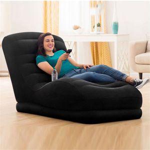 Black Relaxing Leisure Back Sofa Luxurious Modern Design Recliner Lounger Chair