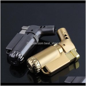 Kitchen All Metal Single Torch Lighters Smoking Pipe Jet Flame Lighter Bend Side Direction 3 Colors Ewc1733 Ftqst Fmze8