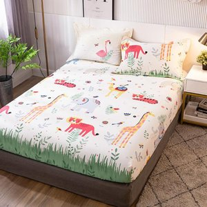 Sheets & Sets 1 Pc Bed Linen Cotton Double Size Sheet Single Full Queen King Sabanas Cartoon Kids On Elastic (no Case)
