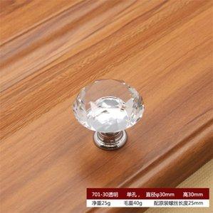 Cocina y OOA8489 Tiradores de perillas Gabinete Cajón Transporte Muebles de vidrio Muebles de vidrio 30 mm Knob Mangos de diamante Tornillo Crystal 1184 V2