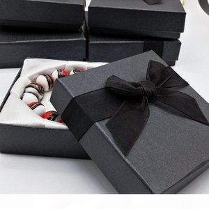 18pcs fashion jewelry bracelet bangle watch black paper gift box Jewelry jewelry gift box