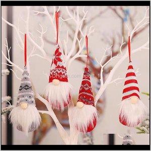 Decorazioni Festive Festa Forniture Garden Drop Consegna 2021 Gnomi fatti a mano Ornamenti Peluche svedese Tomte Santa Figurina Scandinavia Elfo