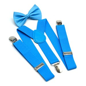 7styles Kids Suspenders With Bowtie Bow Tie Set Y-shaped Matching Ties Outfits Adjustable and Elasticated 2pcs lot FFA2950 271 U2