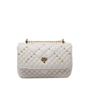 HBP Messenger Bags Flap Purse Chain Shoulder Bags Fashion Plain Rivet Decoration Diamond Lattice