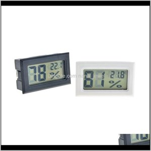 Measurement Analysis Instruments Office School Business & Industrial Drop Delivery 2021 Black White Mini Digital Lcd Environment Thermometer