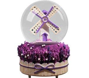 Favoris Favoris Boîte Music Box Lanternes à vent Neige Crystal Ball Étudiant Couple Saint Valentin