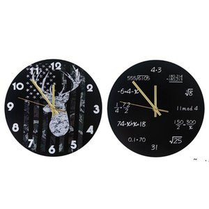 Industrial Modern Wall Clock Art American Personality Living Room Clocks Home Office School Vintage Decor BWD6220