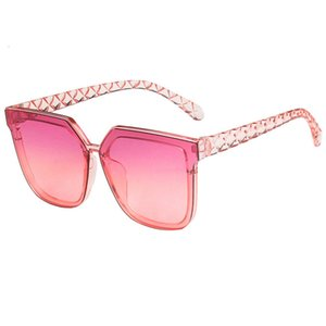 New Square Women's with Large Mounting Gafas Shades Women's Faded-out Sunglasses