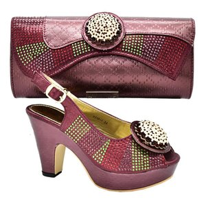 Party Ladies Bags To and Set African Sets Luxury Shoes Women Decorated with Applique 5PUN