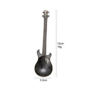 Creative stainless steel coffee spoons Guitar Violin shape dessert spoon Stirring spoon lovely titanium plated ice scoop 577 R2