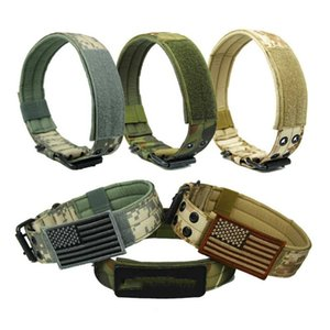 4.5cm Width Durable Nylon Dog Collar Outdoor Tactical Training Pet Military Products Collars & Leashes