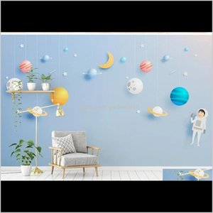 Wallpapers Cute Cartoon Nordic Style Childrens Bedroom Tv Back Wall Decor Deep 5D Embossed Custom Large Mural 3D Wallpaper1 9Ynpx Vlyce