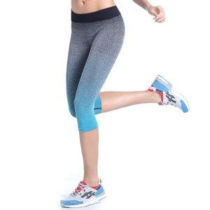 Wholesale-Women \\ 's Fitness Pantalones deportivos Estiramiento Gimnasio Leggings recortados Pantalones atléticos