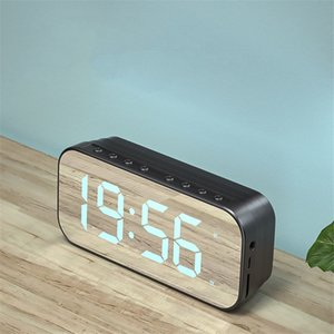 A18 Mini Mirror Alarm Clock Speakers Smart Wireless Bluetooth Speaker with Stereo Sound Effect goods high quality