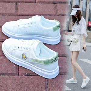 2020 new women's summer thin f ion student Little Daisy white net red foreign air breathable board shoes