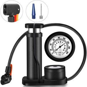 Bike Pumps Bicycle Foot High Pressure Pump Portable Mini Tire Inflator With Gauge Accessories