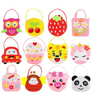 Cloth carried bag non-woven children toy manual DIY paste production material bags child hand sewing