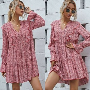 girl dress st3334 Casual younger temperament, slim, versatile and sweet floral skirt Dresses Fashion style,