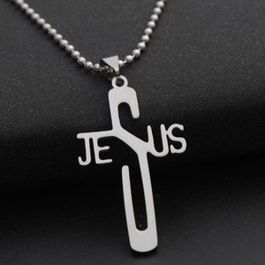 selling stainls steel necklace pendant personality jus Jus Cross Necklace