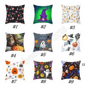 45*45cm Halloween pillowcase Halloween Ghost Pumpkin pillow cover customed pumpkin print cushions cover Outdoor Gadgets by sea HWB10434